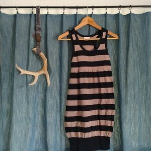 Dresses & Skirts - Black & Tan Striped Dress